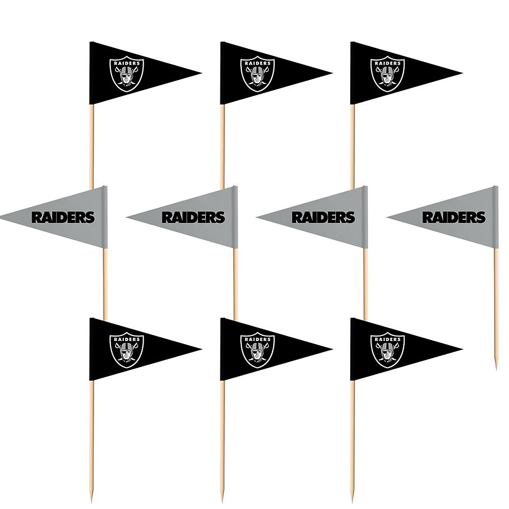 Oakland Raiders Flag Picks 36ct Image #1