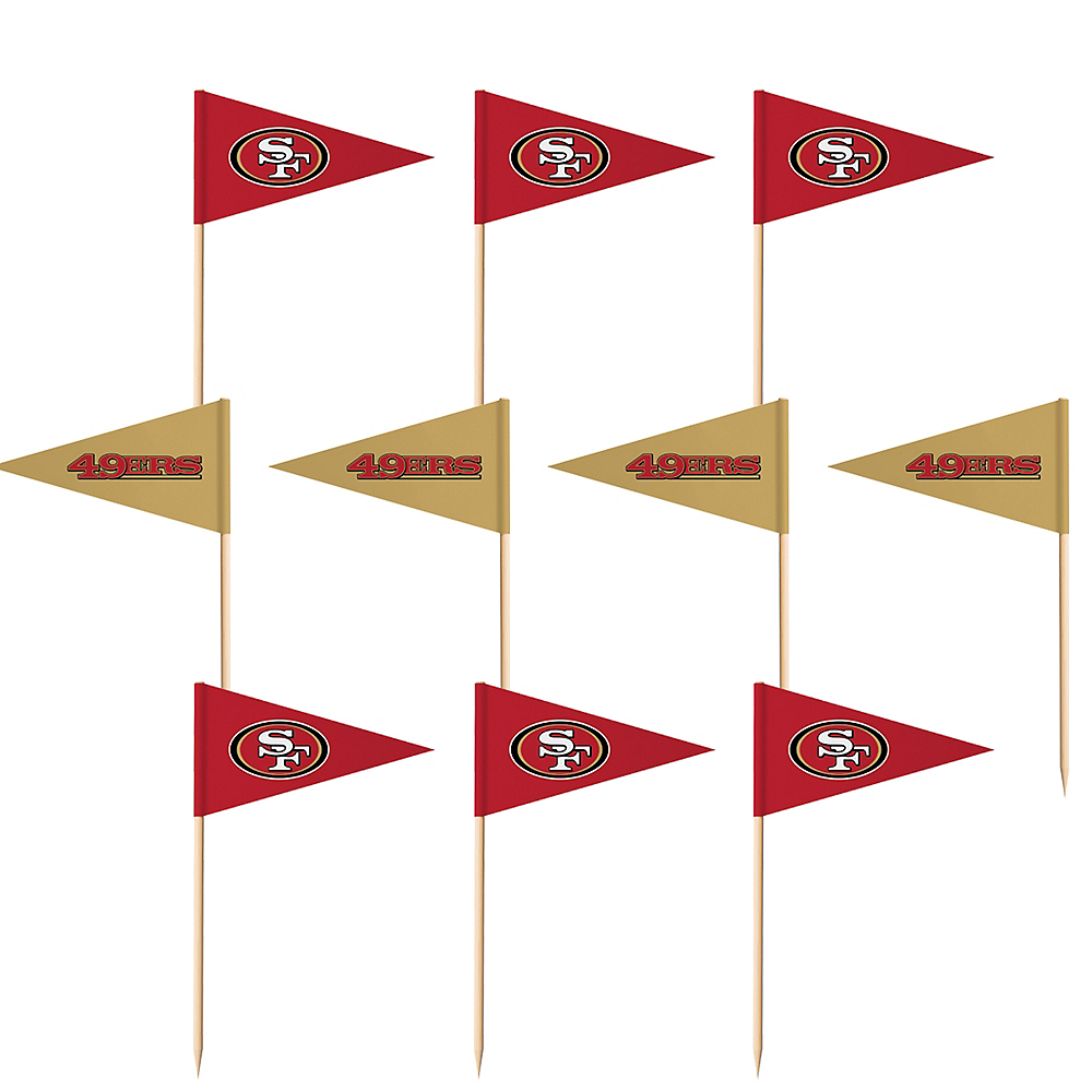 San Francisco 49ers Flag Picks 36ct Image #1