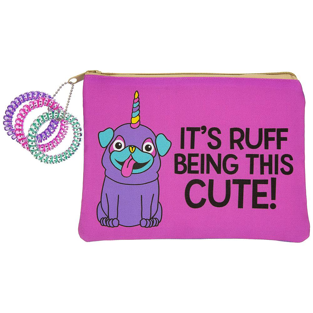 Neon Uni-Pug Makeup Bag Image #1