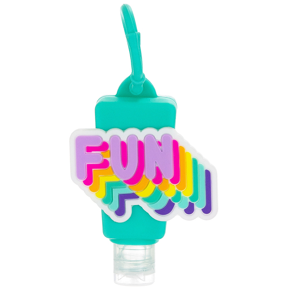 Neon Fun Hand Sanitizer with Holder Image #1
