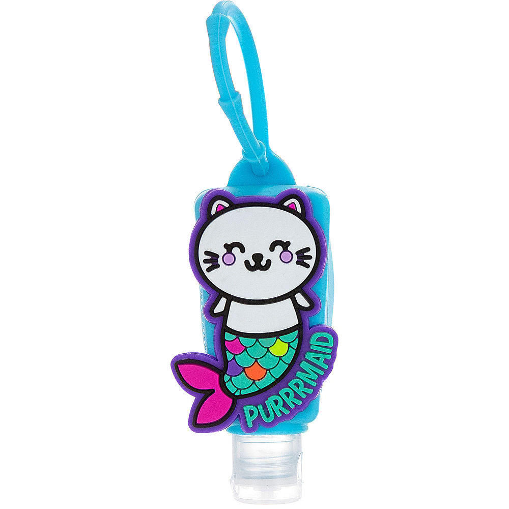 Neon Purrrmaid Sanitizer with Holder Image #1