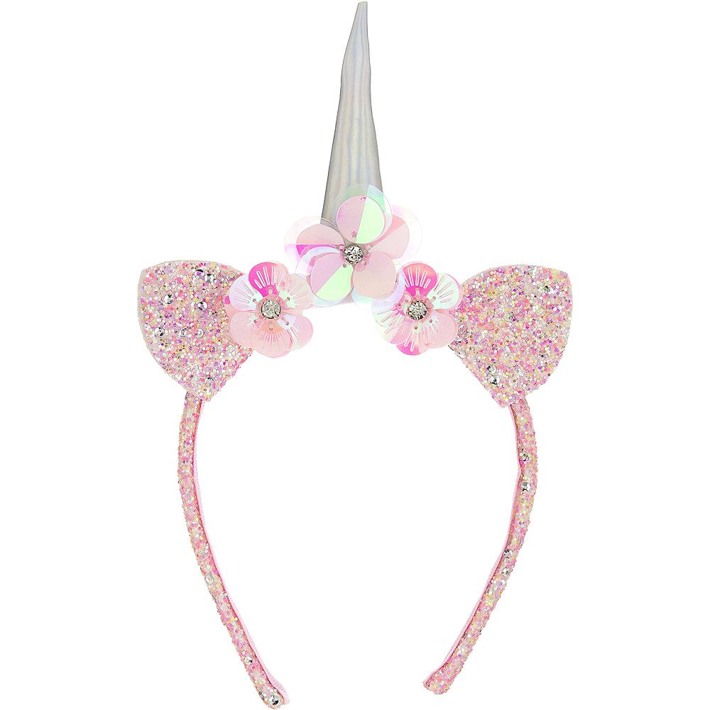 Child Glitter Multicolor Unicorn Headband Image #1
