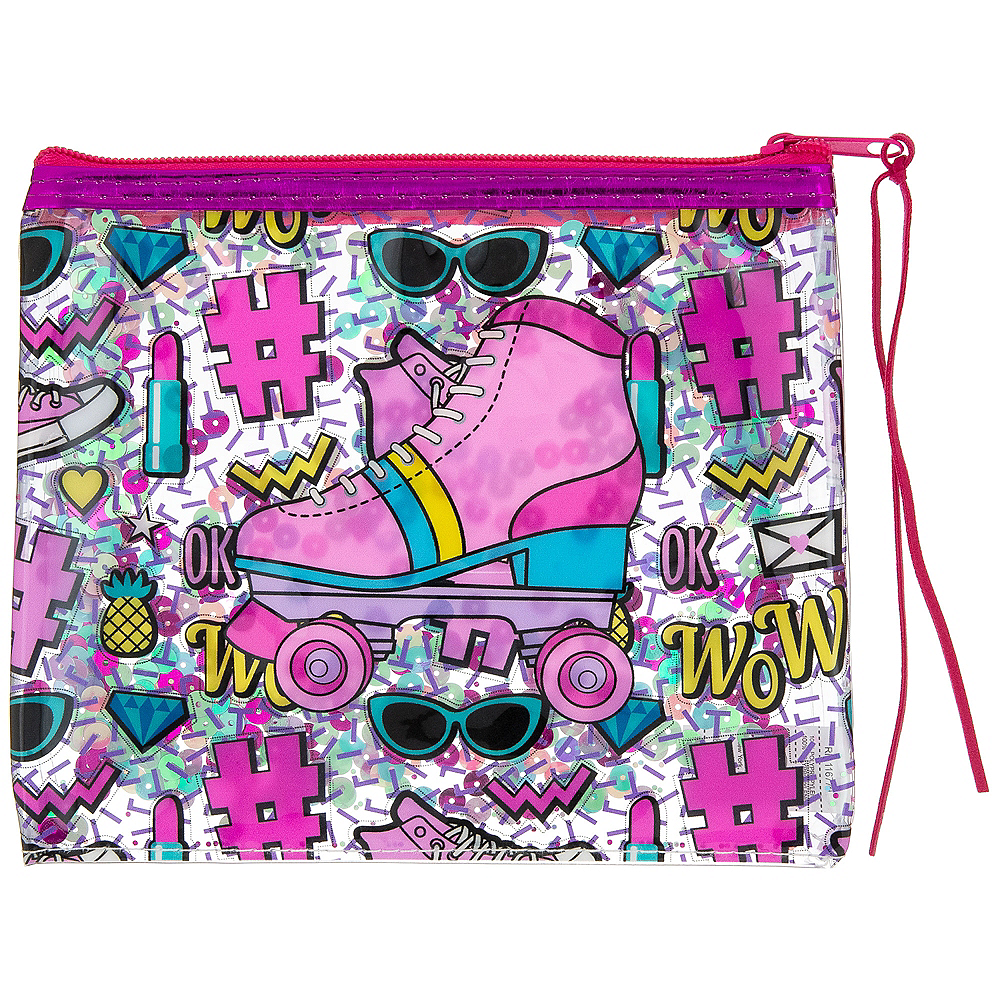 Confetti Shake Roller Skate Makeup Bag Image #1