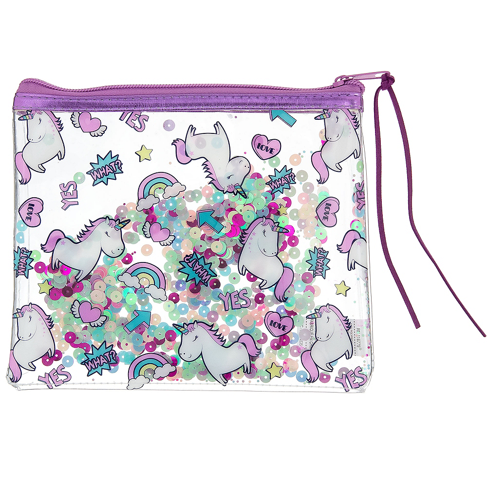 Nav Item for Confetti Shake Unicorn Makeup Bag Image #1