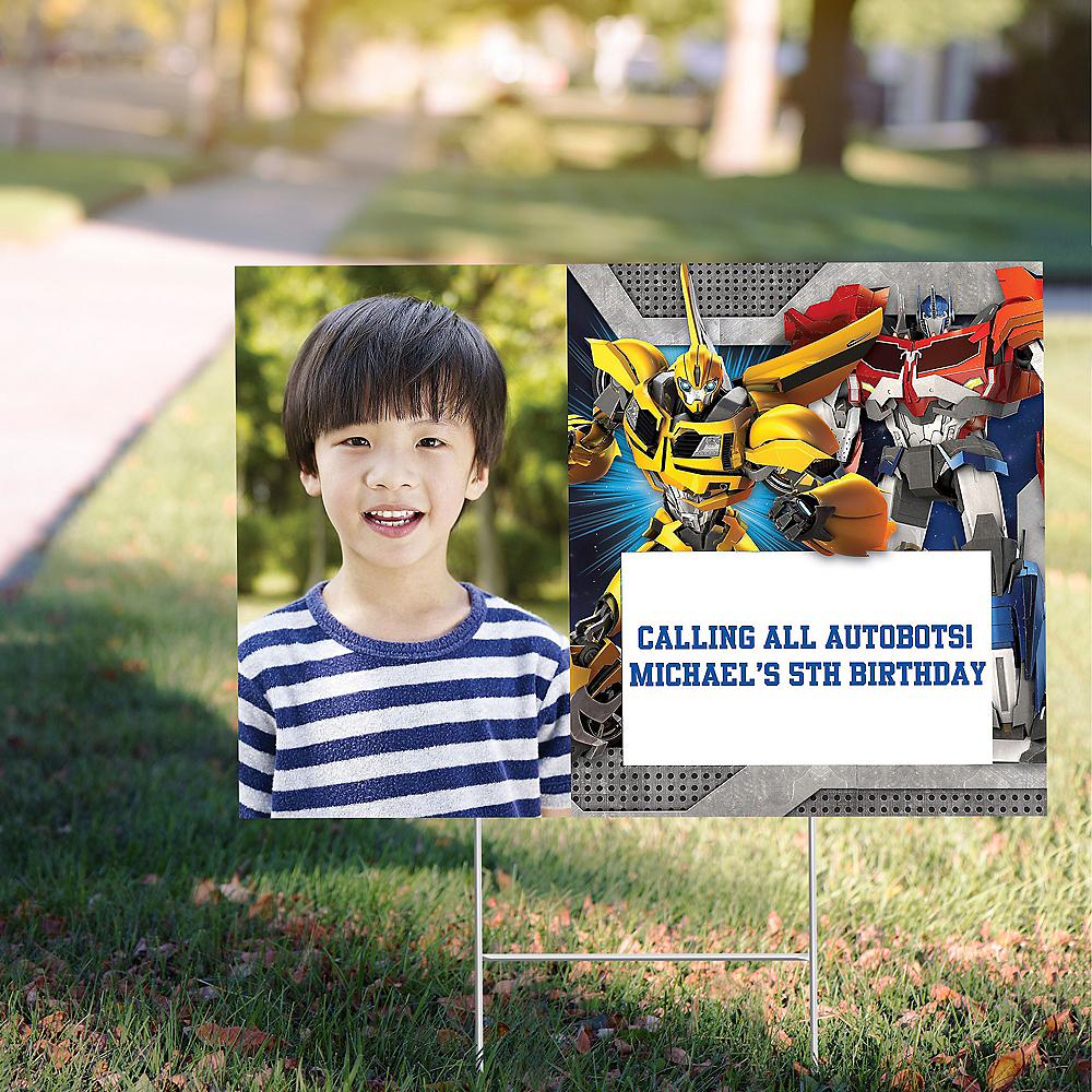 Custom Transformers Photo Yard Sign Image #1