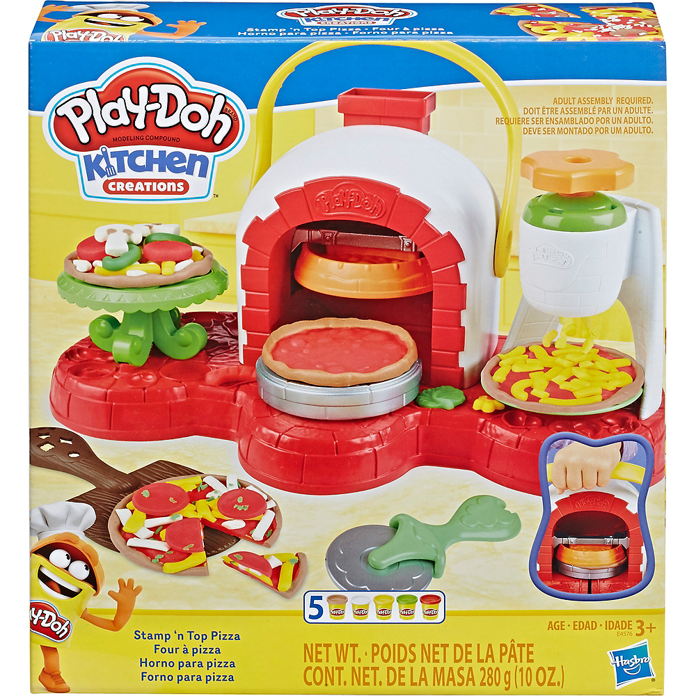 Play Doh Kitchen Creations Stamp n' Top Pizza Oven Image #4