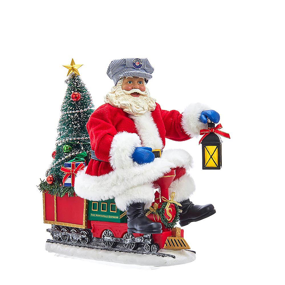 Kurt Adler Light-Up Santa On Lionel© Train Image #1