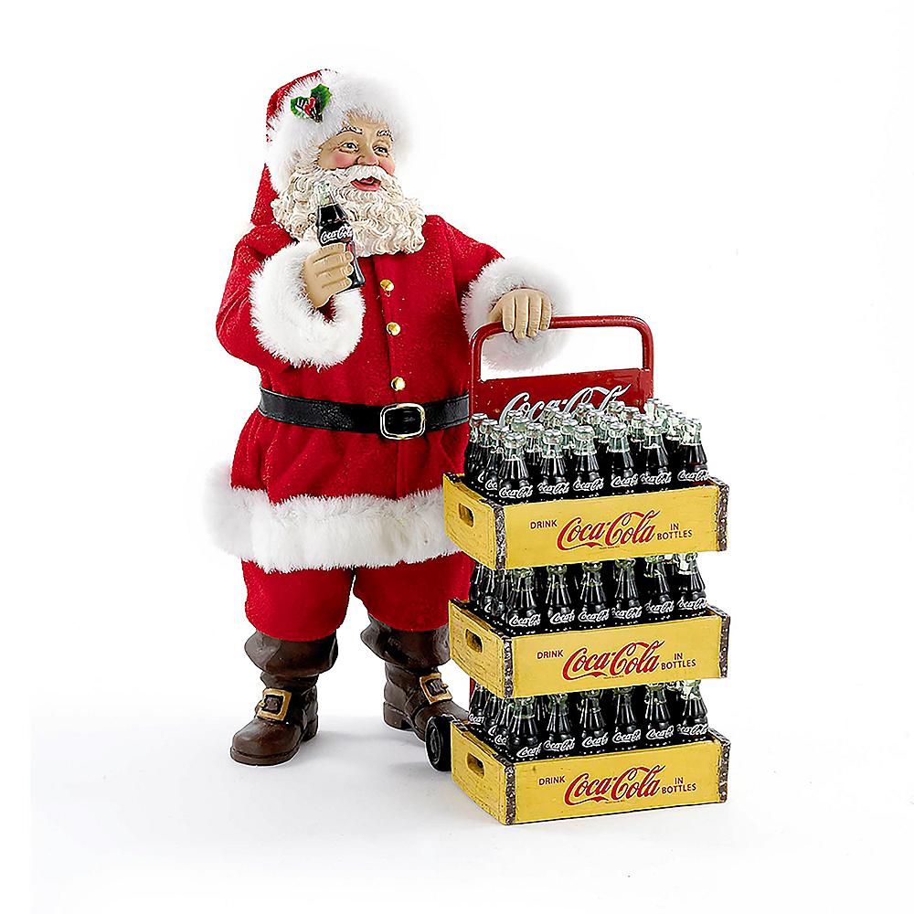 Kurt Adler Coca-Cola Santa with Delivery Cart 2pc Image #1