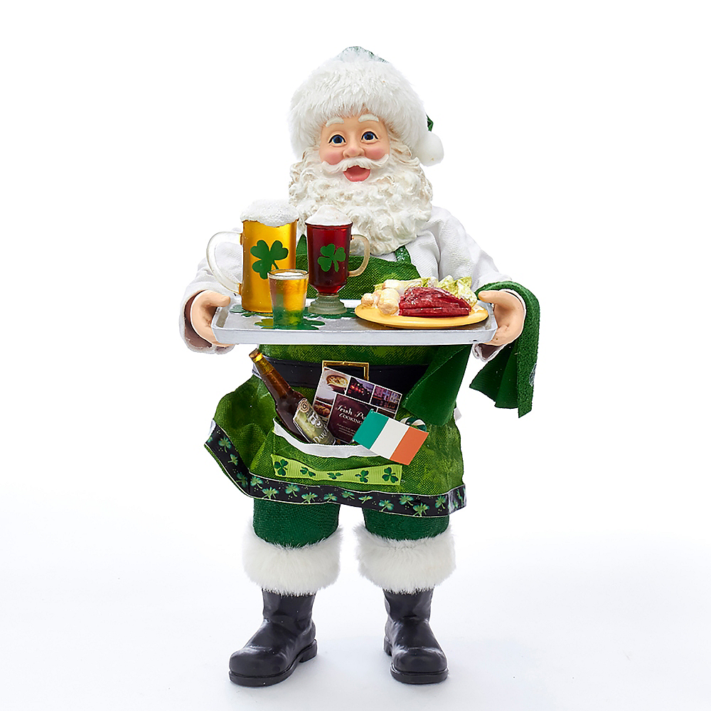 Kurt Adler Fabriche™ Musical Irish Chef Santa Image #1
