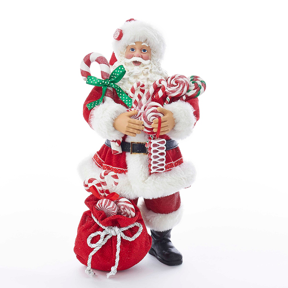 Kurt Adler Fabriche™ Santa with Christmas Candy & Bag Image #1