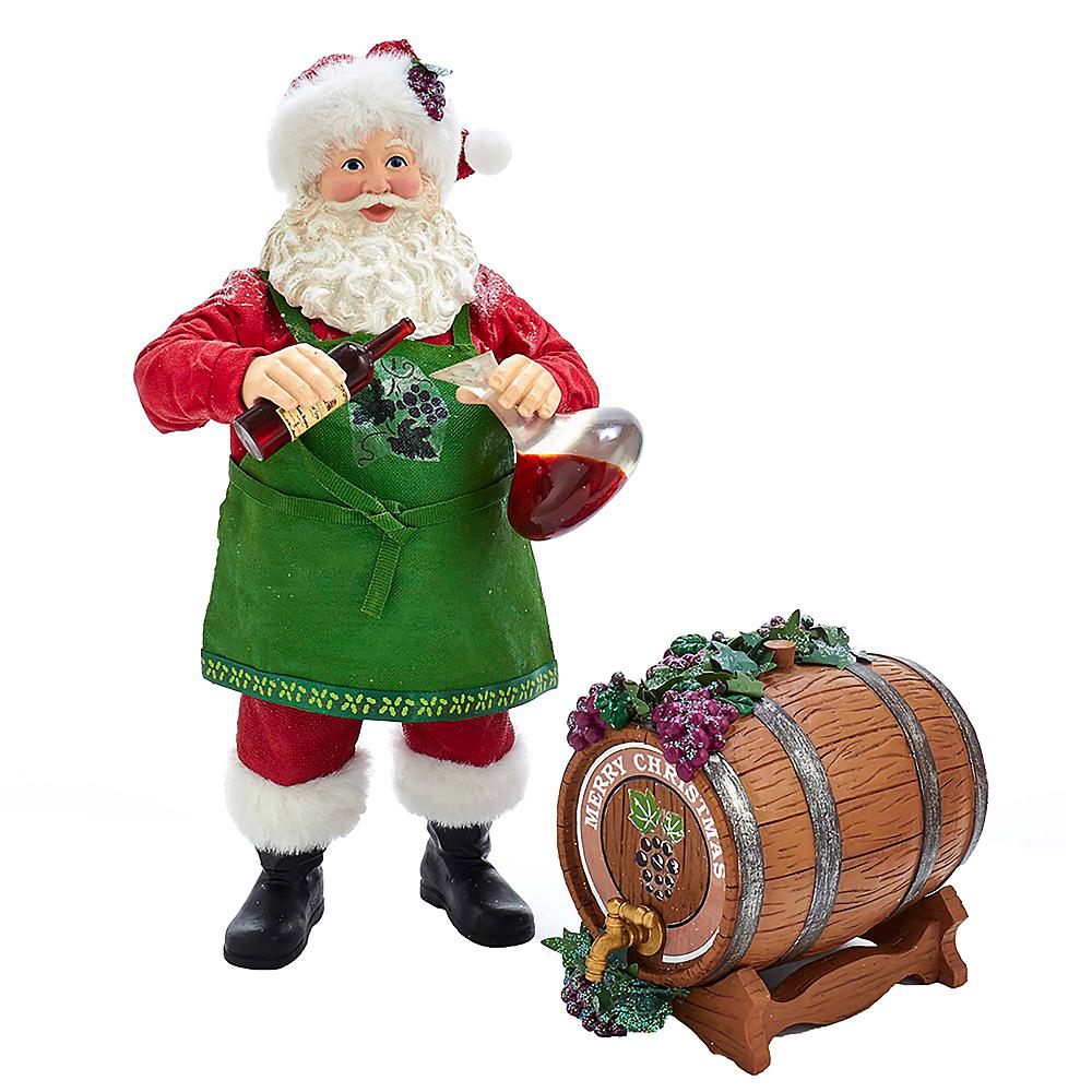 Kurt Adler Fabriche™ Wine Santa & Barrel Image #1