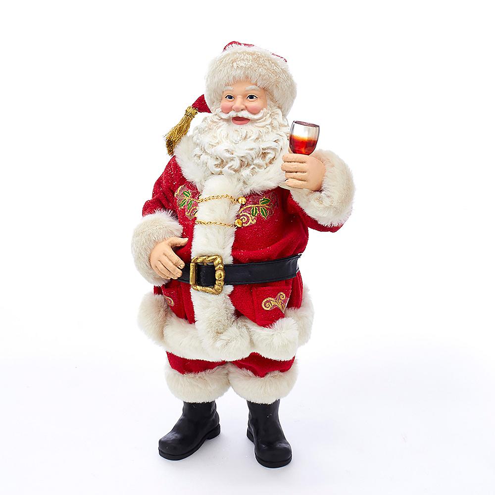 Kurt Adler Fabriche™ Wine Tasting Santa Image #1