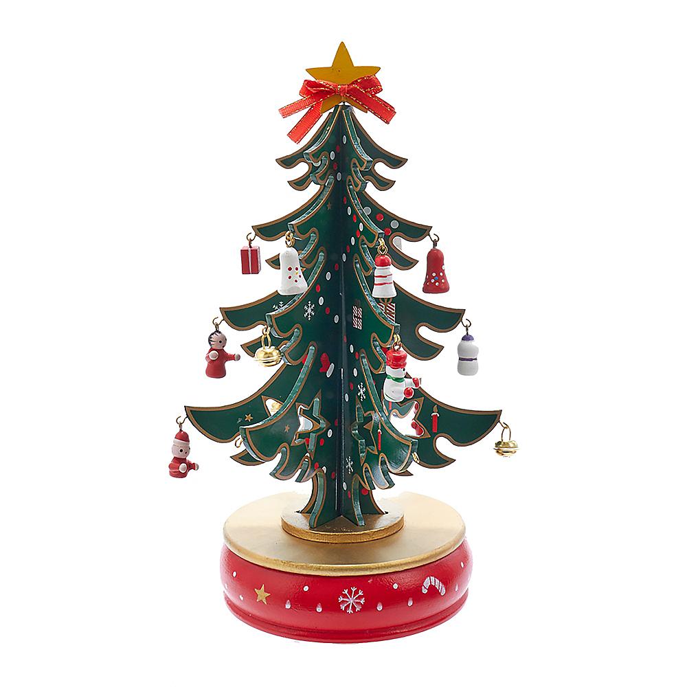Kurt Adler Wooden Musical Tree Tablepiece Image #1
