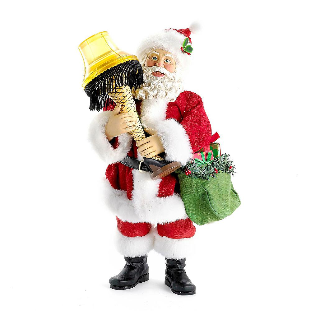 Kurt Adler Leg Lamp Fabriche Santa with Light Image #1