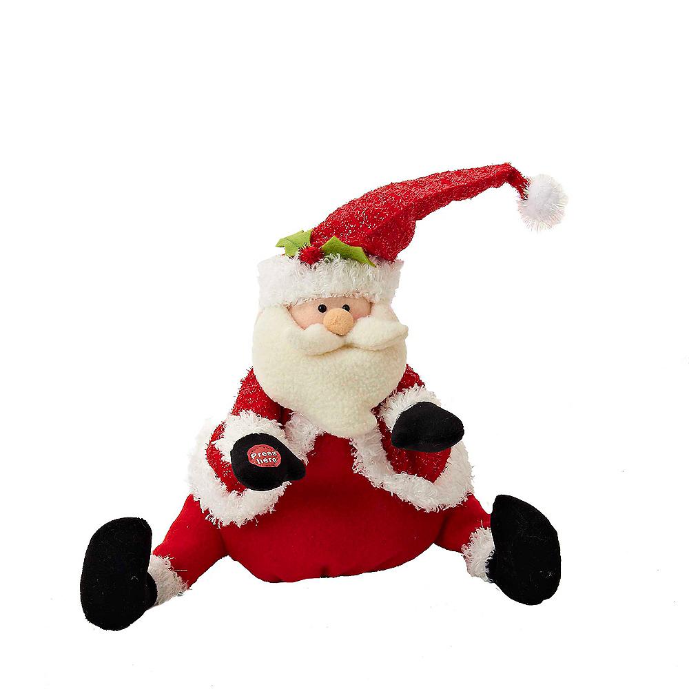 Kurt Adler Plush Singing & Dancing Santa Image #1