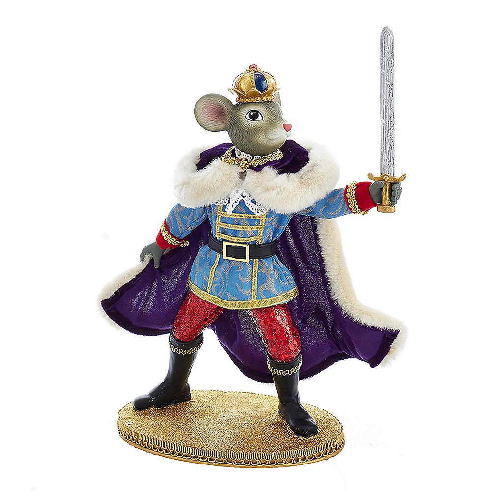 Kurt Adler Fabriche™ Mouse King with Sword Image #1