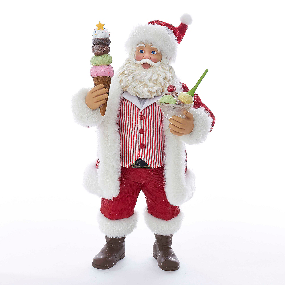 Kurt Adler Fabriche™ Santa with Ice Cream Sundae & Cone Image #1