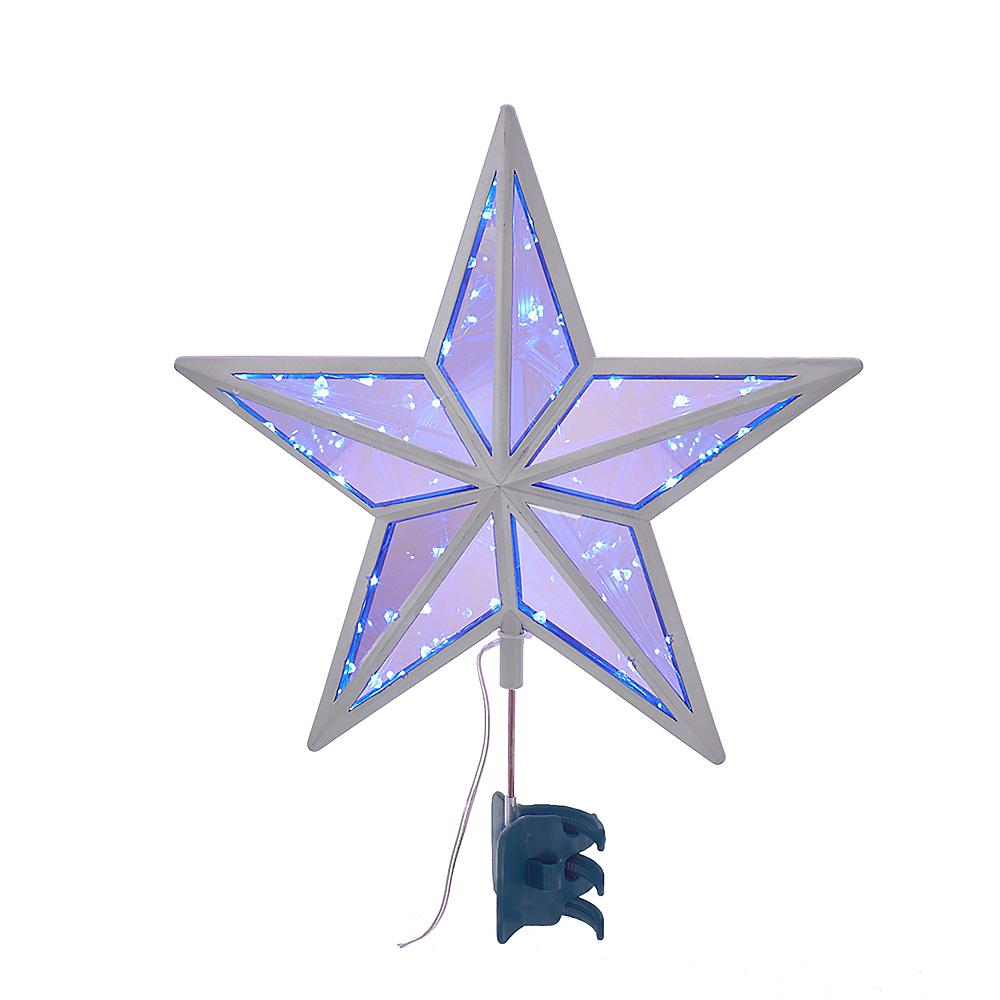 Kurt Adler Light-Up LED Twinkle Cool White Mirror Star Treetop Image #1