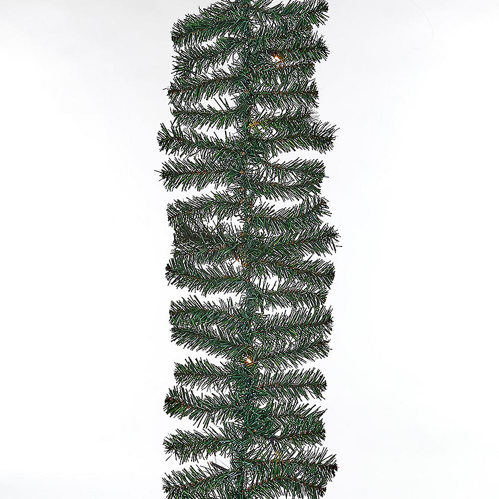 Kurt Adler Light-Up LED White Pine Needle Garland Image #1