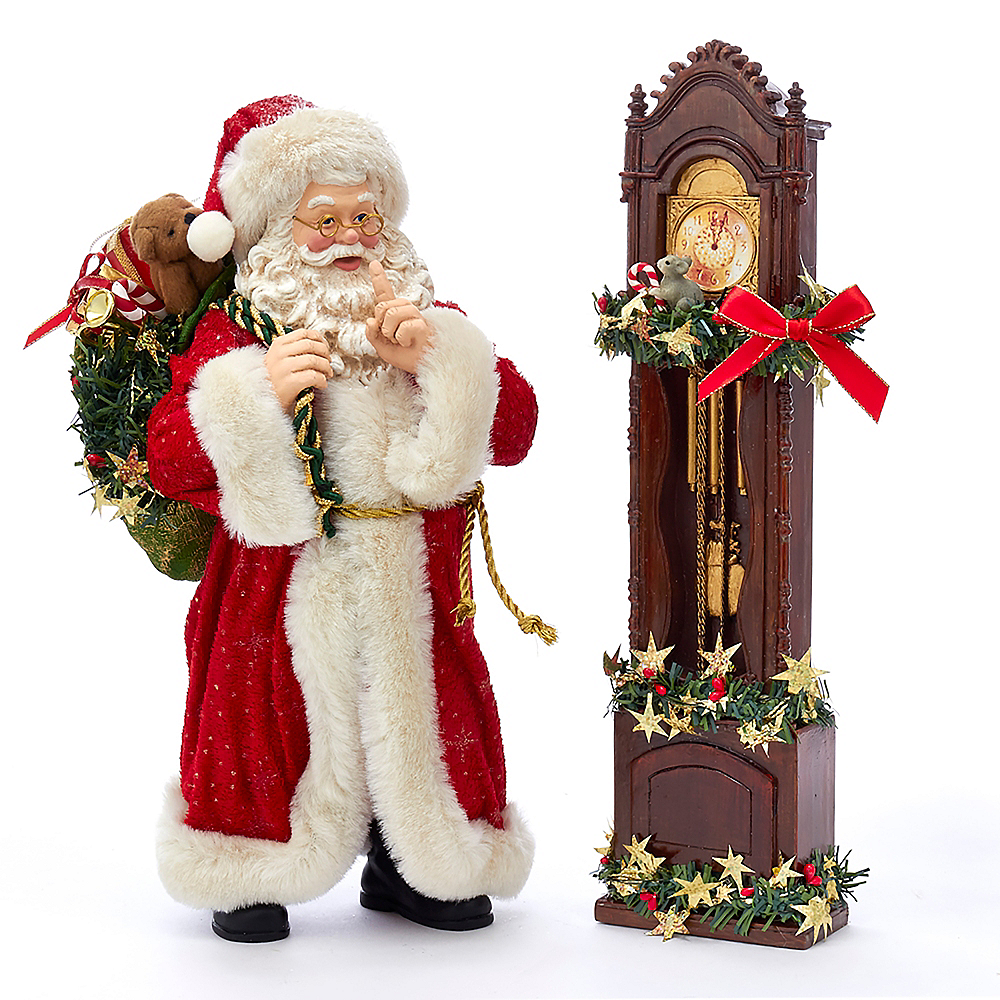 Kurt Adler Fabriche™ Santa & Clock Image #1