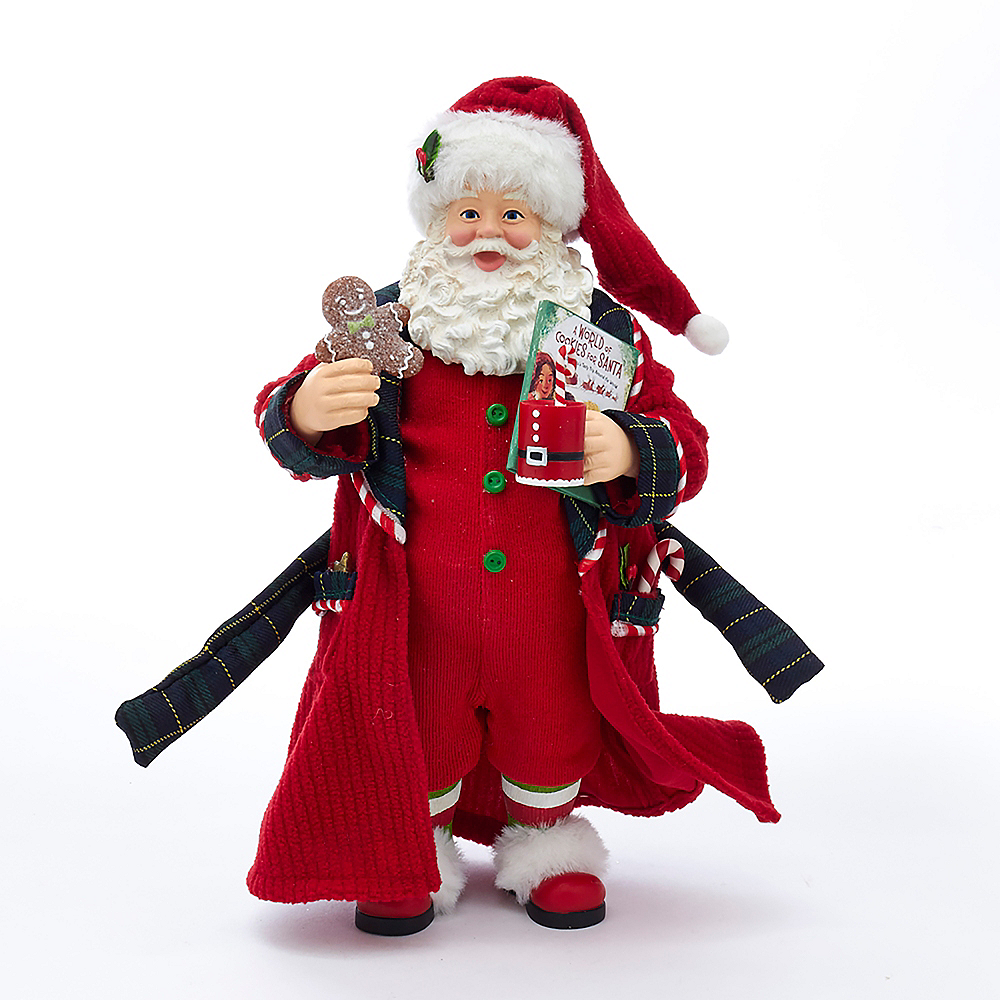 Kurt Adler Fabriche™ Santa in Pajamas & Nightrobe Image #1