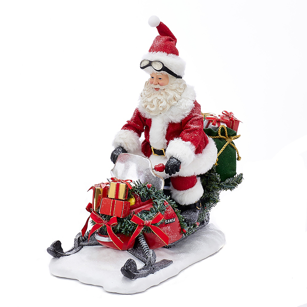 Nav Item for Kurt Adler Fabriche™ Snowmobile Santa Image #1