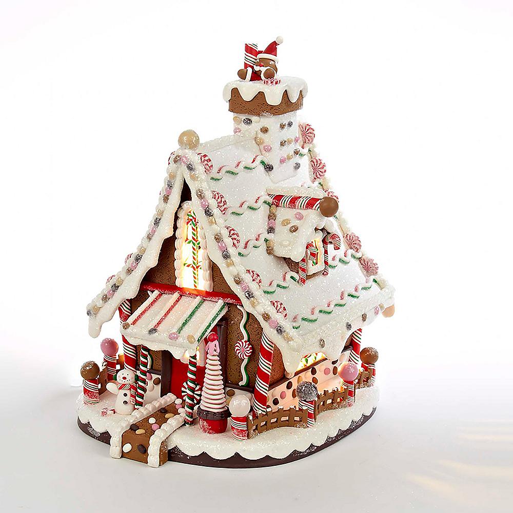 Kurt Adler Light-Up Christmas Gingerbread House Image #1