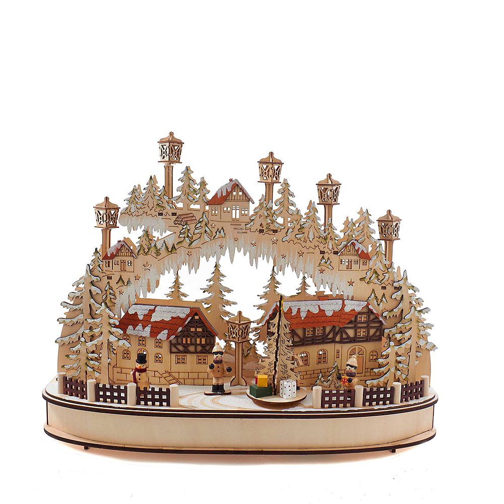Kurt Adler Musical LED Village House Tablepiece Image #1