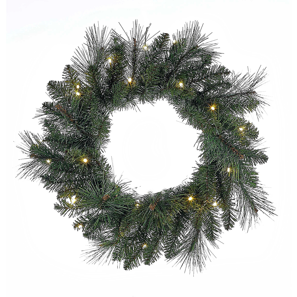 Nav Item for Kurt Adler Green LED Wreath Image #1