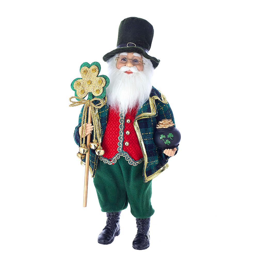 Kurt Adler Kringle Klaus Irish Santa White Staff Image #1
