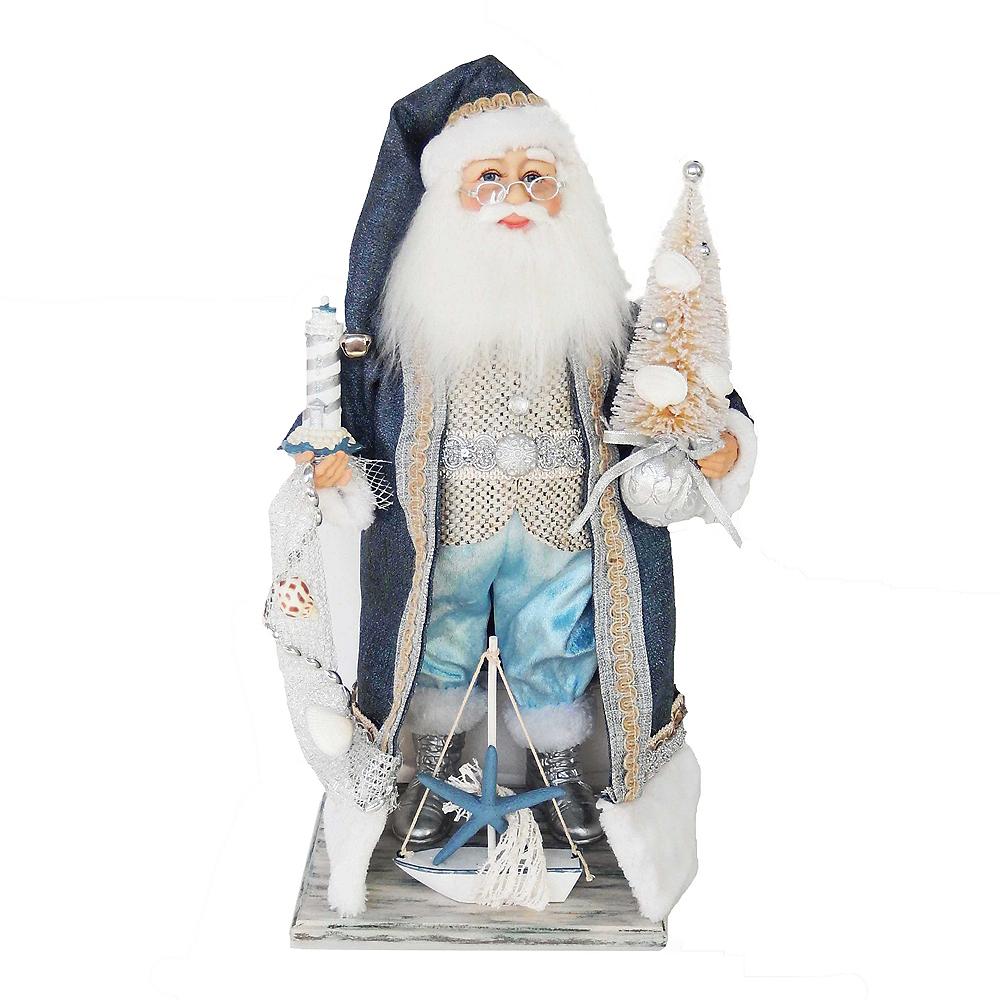 Kurt Adler Kringle Klaus Nautical Santa with Tree Image #1