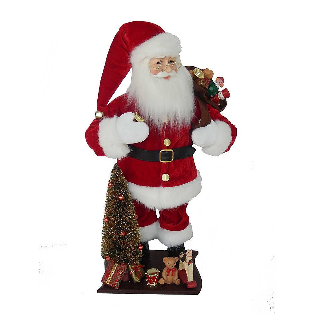 Kurt Adler Kringle Klaus Santa with Tree & Gifts Image #1