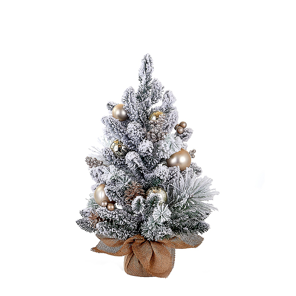 Kurt Adler Ornaments, Pinecones & Burlap Tree Image #1