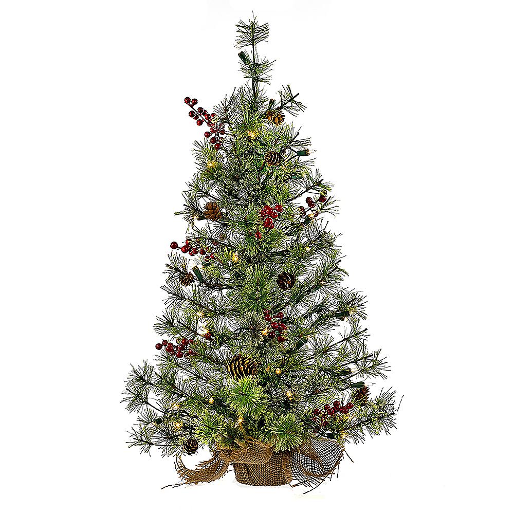 Kurt Adler Light-Up Mini Pinecone & Berries Tree Image #1