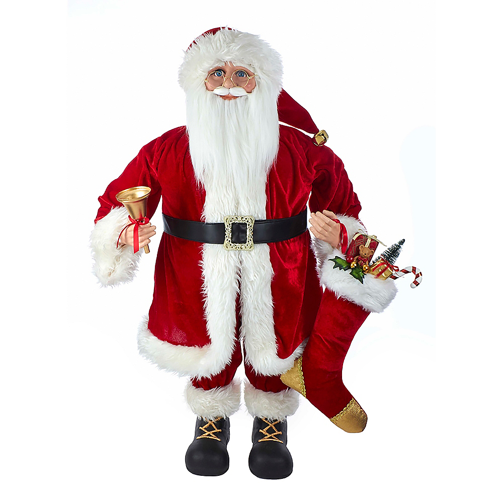 Kurt Adler Kringle Klaus Red Standing Santa Image #1