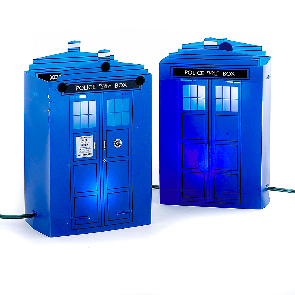 Kurt Adler 5-Light Doctor Who Tardis Luminary Outdoor Decor Image #1