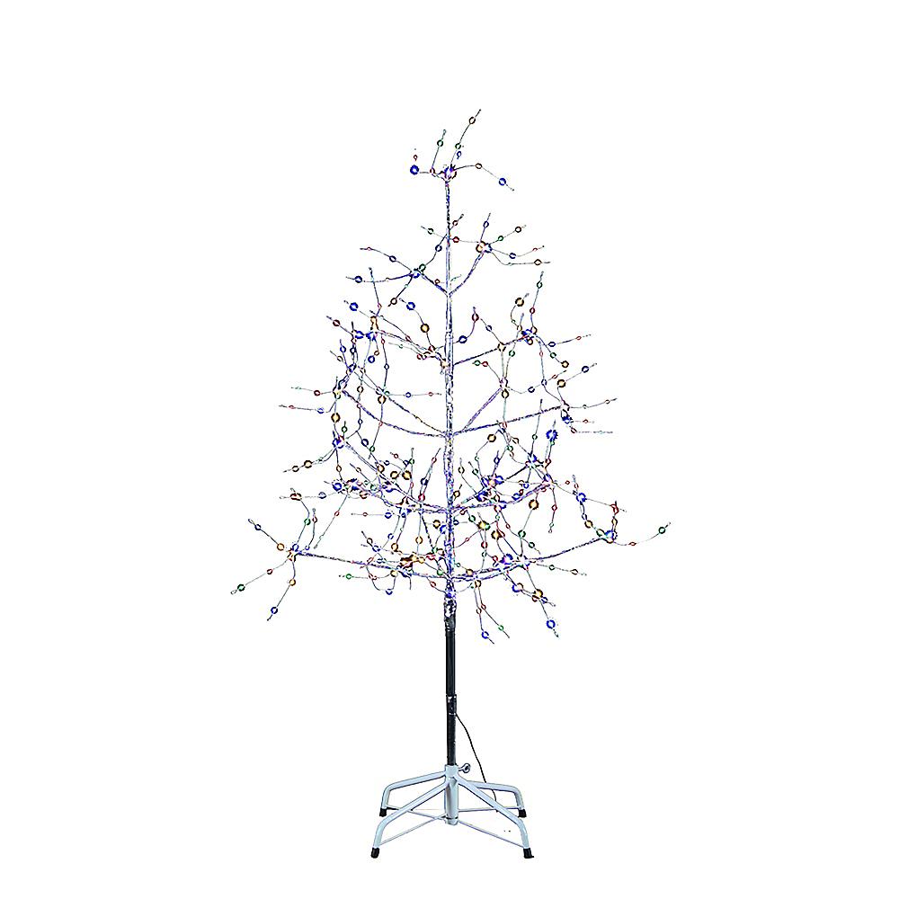Kurt Adler Light-Up Large Multicolor LED Fairy Light Silver Birch Bark Christmas Tree Image #1