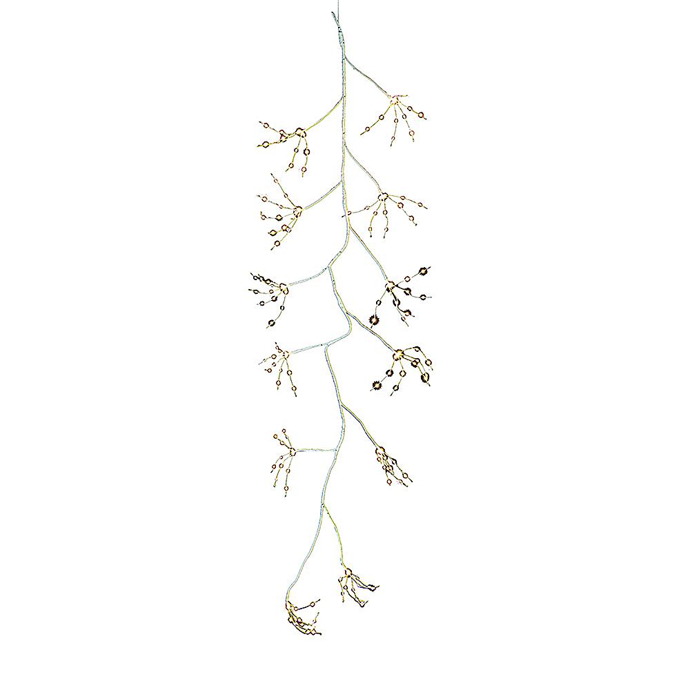 Kurt Adler White Fairy LED Light & White Bark Garland Image #1