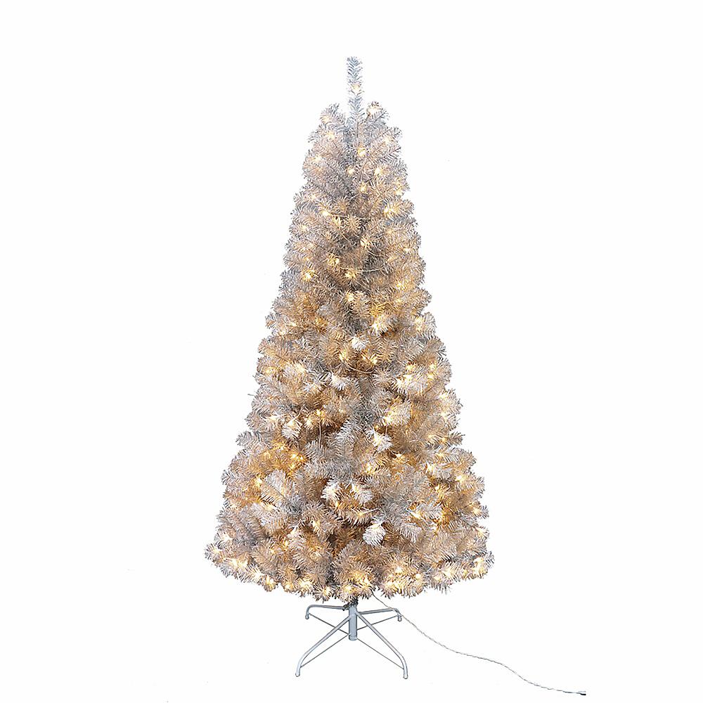 Kurt Adler Light-Up Silver Point Pine Tree Image #1