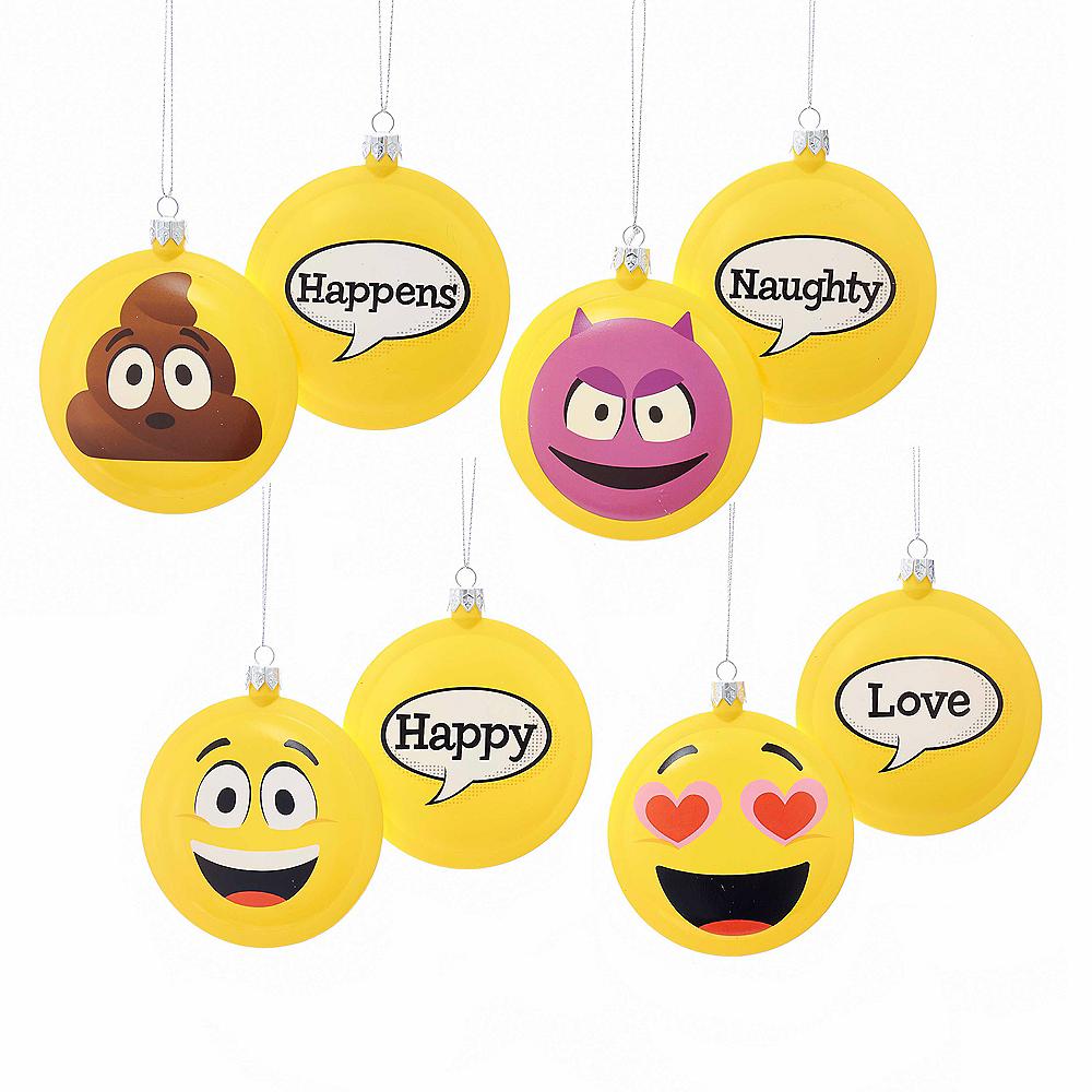 Kurt Adler Emoticon Disc Ornaments 4ct Image #1