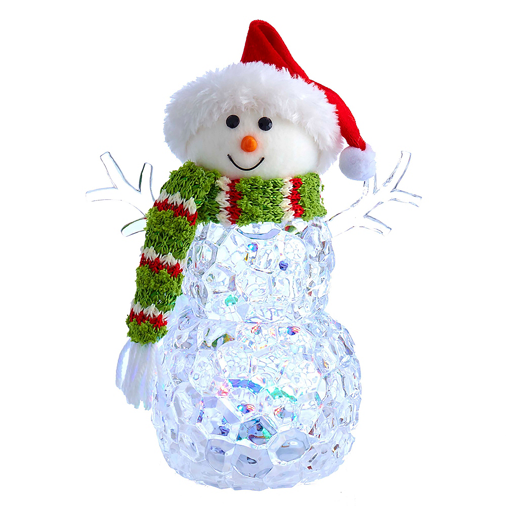Kurt Adler Light-Up Snowman Tablepiece Image #1