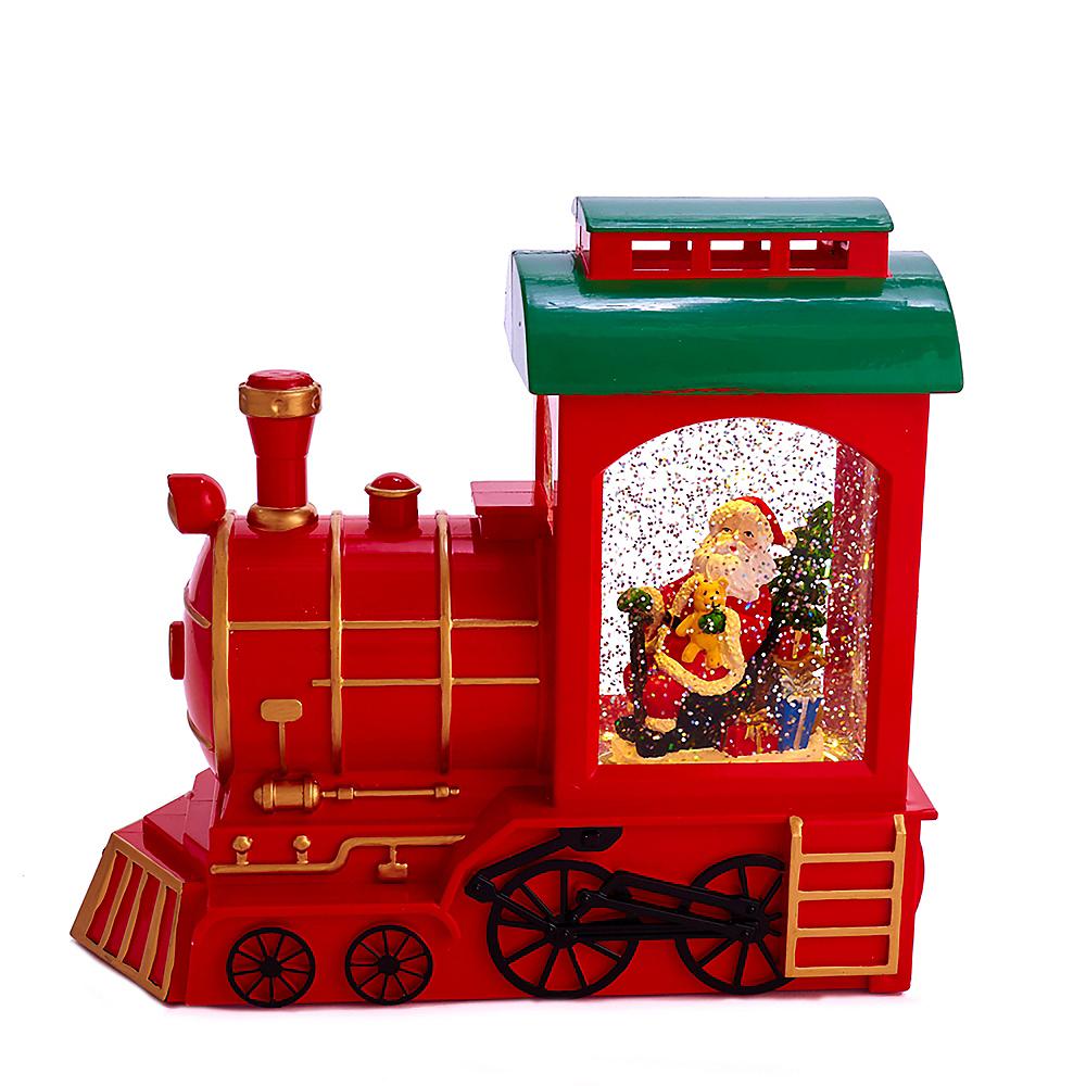 Kurt Adler Train & Santa Motion Tablepiece Image #1