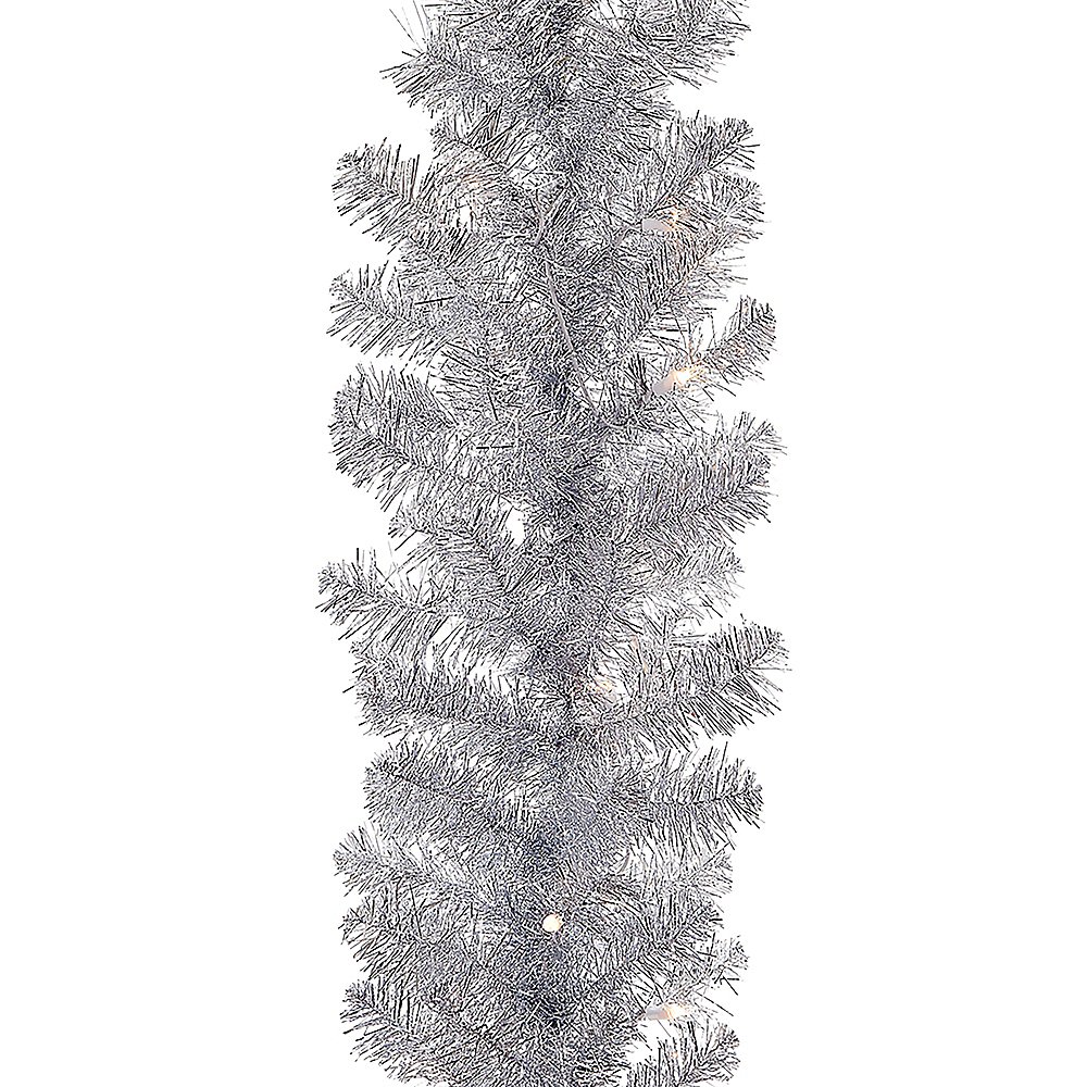 Kurt Adler Light-Up Silver Point Pine Garland Image #1
