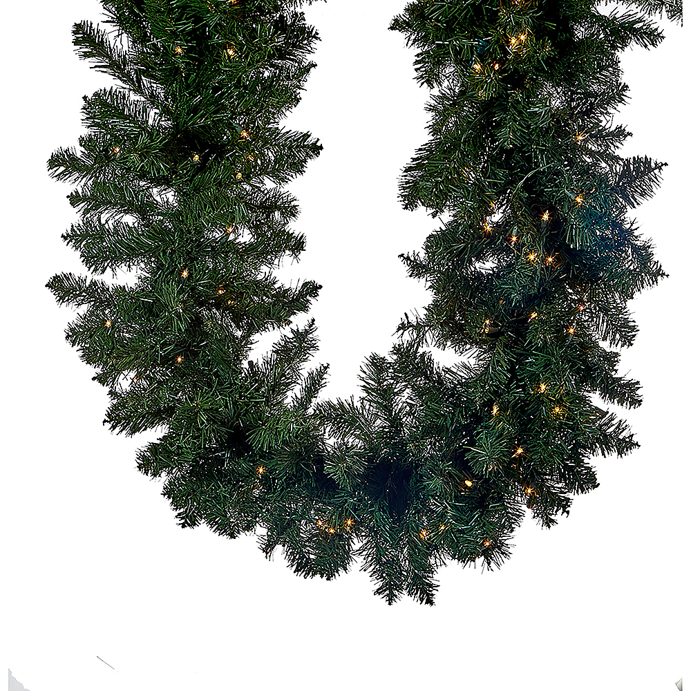 Kurt Adler Light-Up Large Vanderbilt Garland Image #1