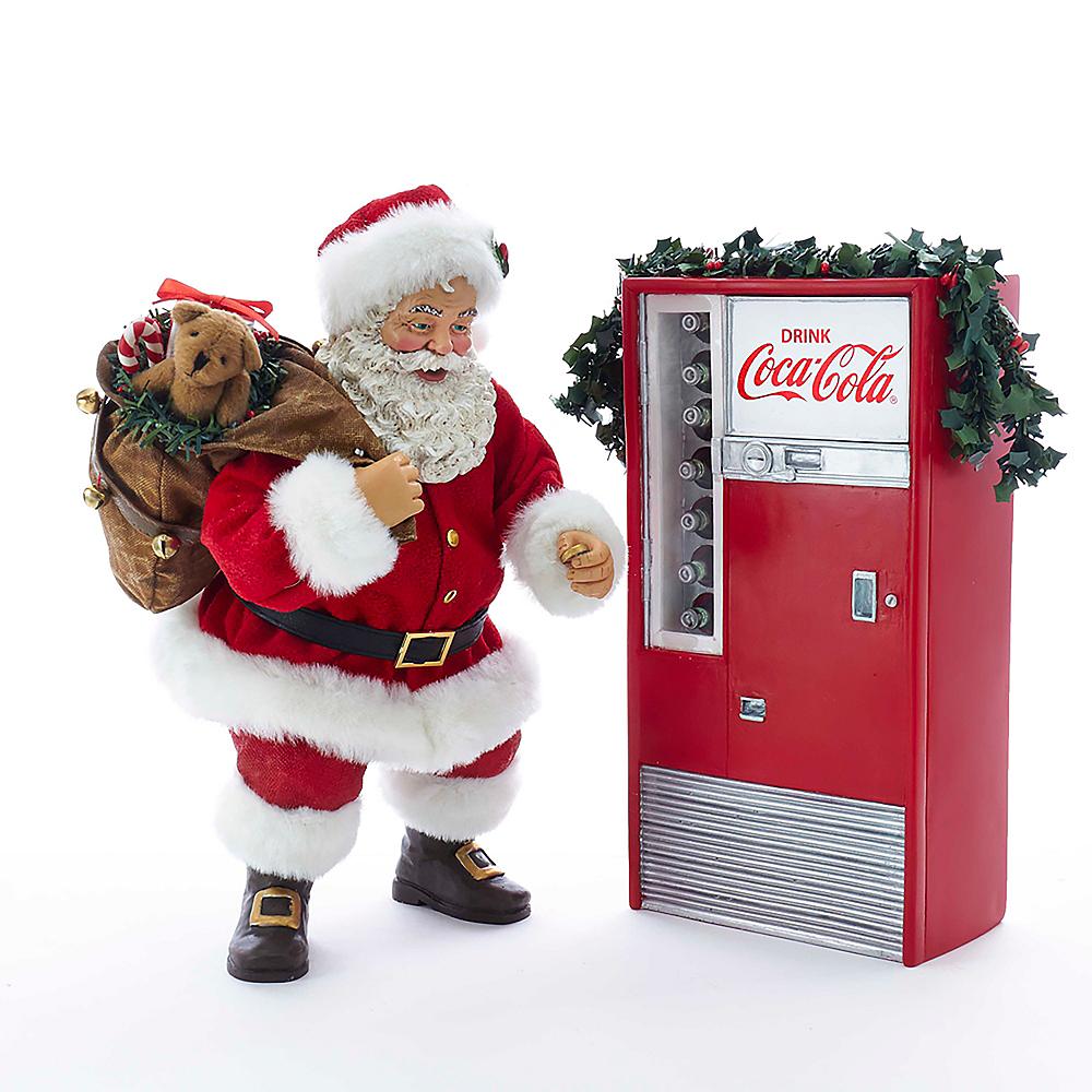 Kurt Adler Santa with Coca-Cola® Machine 2ct Image #1