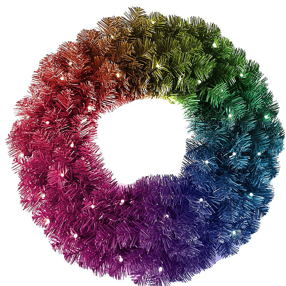 Kurt Adler Light-Up Twinkly™ LED Wreath Image #1