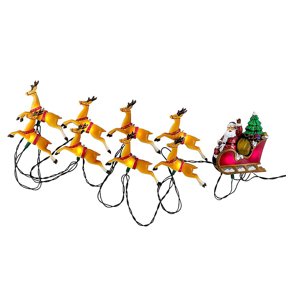 Kurt Adler Santa Sleigh & Reindeer String Lights Image #1