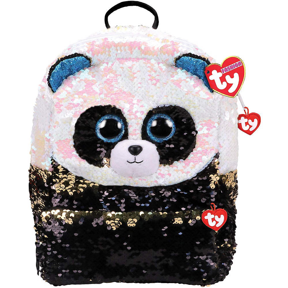 Bamboo TY Fashion Flip Sequin Panda Backpack Image #1