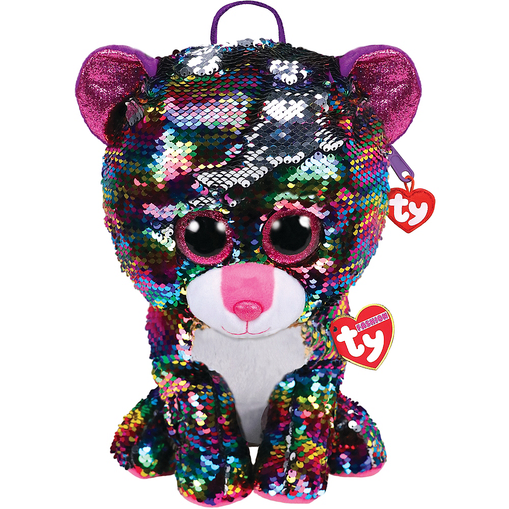 Dotty TY Fashion Flip Sequin Leopard Backpack Image #1