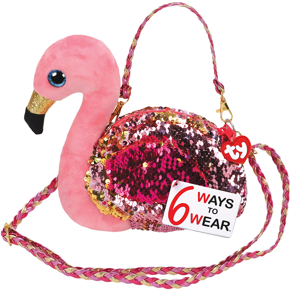 Gilda TY Fashion Flip Sequin Flamingo Purse Image #1
